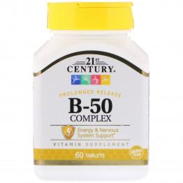 Комплекс B-50 пролонгированного высвобождения, 60 таблеток