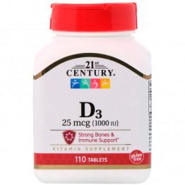 Витамин D3 25 мкг (1000 МЕ) 110 таблеток