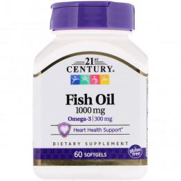 Рыбий жир 1000 мг 60 мягких желатиновых капсул