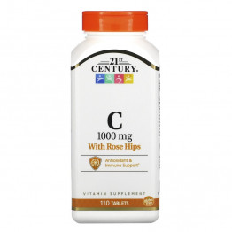 21st Century Витамин С с плодами шиповника 1000 мг 110 таблеток