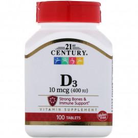 21st Century Vitamin D3 400 IU 100 Tablets / Витамин Д3