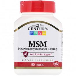21st Century MSM / МСМ (метилсульфонилметан) 1000 мг 90 таблеток