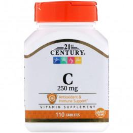 21st Century Витамин C 250 мг 110 таблеток