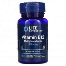 Life Extension B12 500 mcg 100 Lozenges / Витамин Б12 100 леденцов