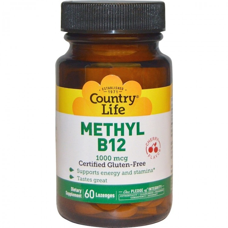 Methyl B12 Cherry Flavor 1000 mcg 60 lozenges / Витамин Б-12