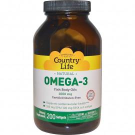 Omega-3 1000 mg 200 softgels / Омега-3
