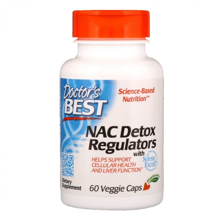 Doctor's Best NAC Detox Regulators / Регуляторы детоксикации 60 капсул