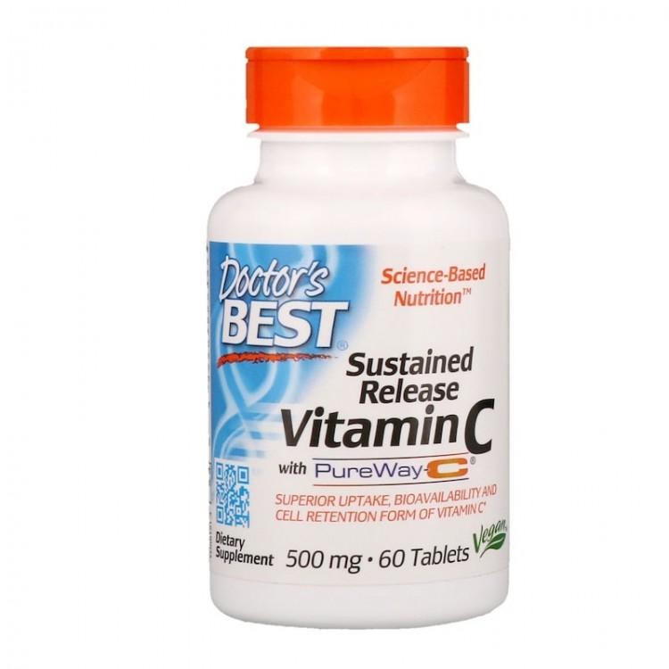 Doctor's Best Витамин С замедленного высвобождения 500 мг 60 таблеток