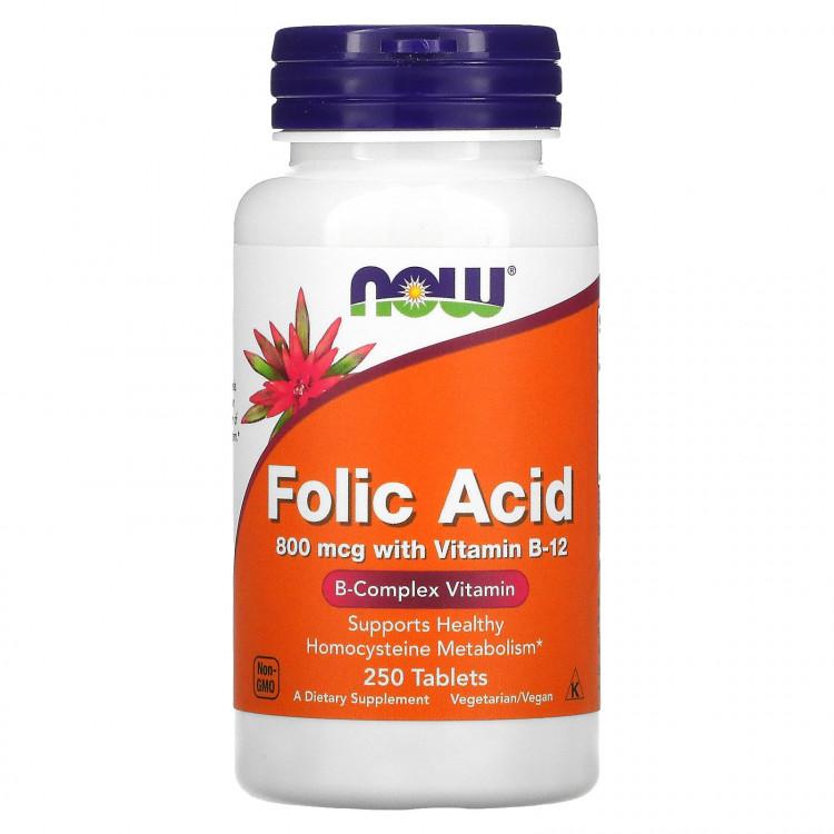 Folic Acid with Vitamin B12 250 tab / Фолиевая кислота