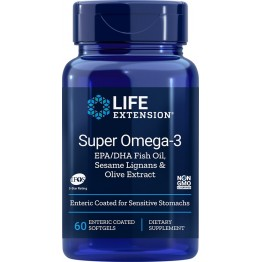 Super Omega-3 EPA/DHA with Sesame Lignans & Olive Extract 60 softgels / Омега-3