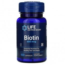 Life Extension Biotin 600 mcg / Биотин 100 капсул