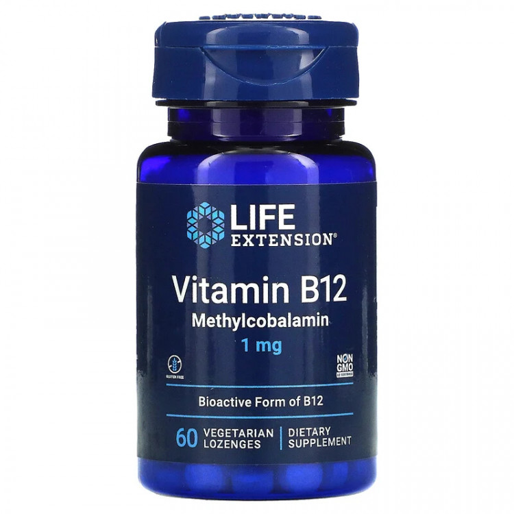 Life Extension Methylcobalamin 1 mg 60 Lozenges / Метилкобаламин 60 леденцов
