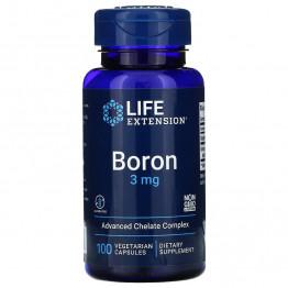Life Extension Boron 3 mg / Бор 100 капсул