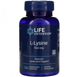 Life Extension L-Lysine 620 mg / Л-Лизин 100 капсул