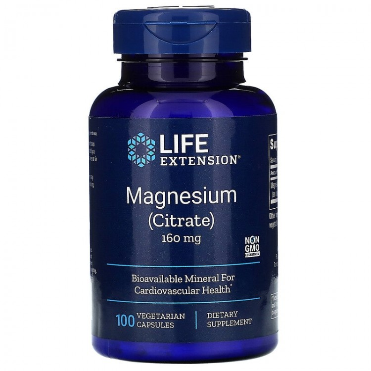 Life Extension Magnesium (Citrate) / Магний (Цитрат) 160 мг, 100 капсул