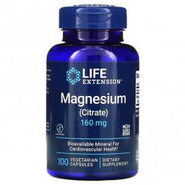 Life Extension Magnesium (Citrate) / Магний (Цитрат) 160 мг, 100 капсул