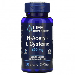 Life Extension N-ацетил-L-цистеин 600 мг 60 капсул
