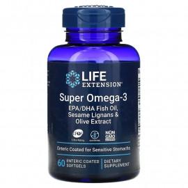 Super Omega-3 EPA/DHA with Sesame Lignans & Olive Extract 60 softgels / Омега-3