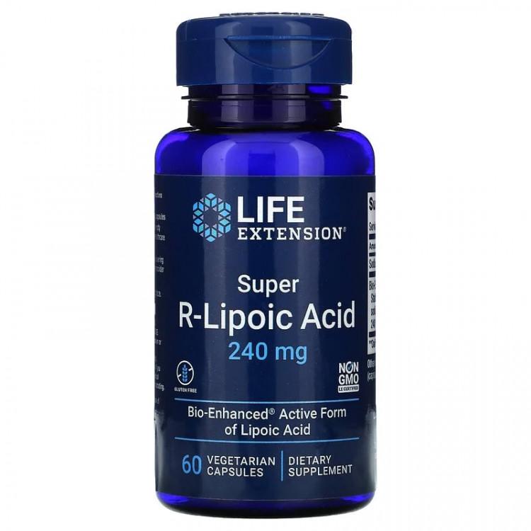 Super R-Lipoic Acid 240 mg 60 caps / R-Липоевая кислота