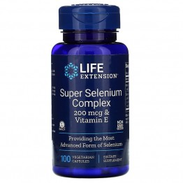 Life Extension Super Selenium Complex & Vitamin E 200 mcg / Селен и Витамин Е 100 капсул