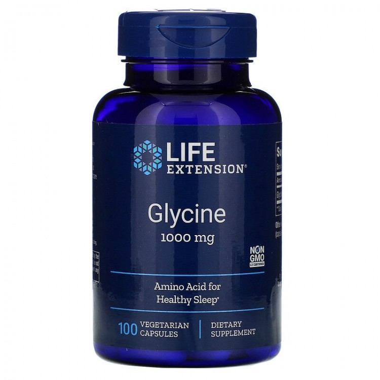Life Extension Glycine / Глицин 1000 мг 100 капсул