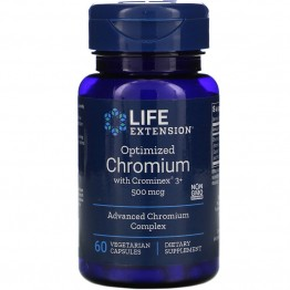 Life Extension Optimized Chromium with Crominex 3+ 500 mcg / Хром 60 капсул