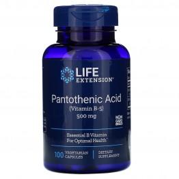 Pantothenic Acid Vitamin B-5 500 mg 100 caps / Пантотеновая кислота (витамин B5)
