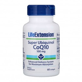 Super Ubiquinol CoQ10 100 mg 60 softgels / Убихинол CoQ10