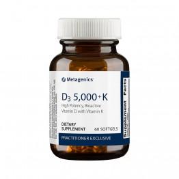 D3 5000™ + K2 60 softgels / Витамин Д-3 и Витамин К