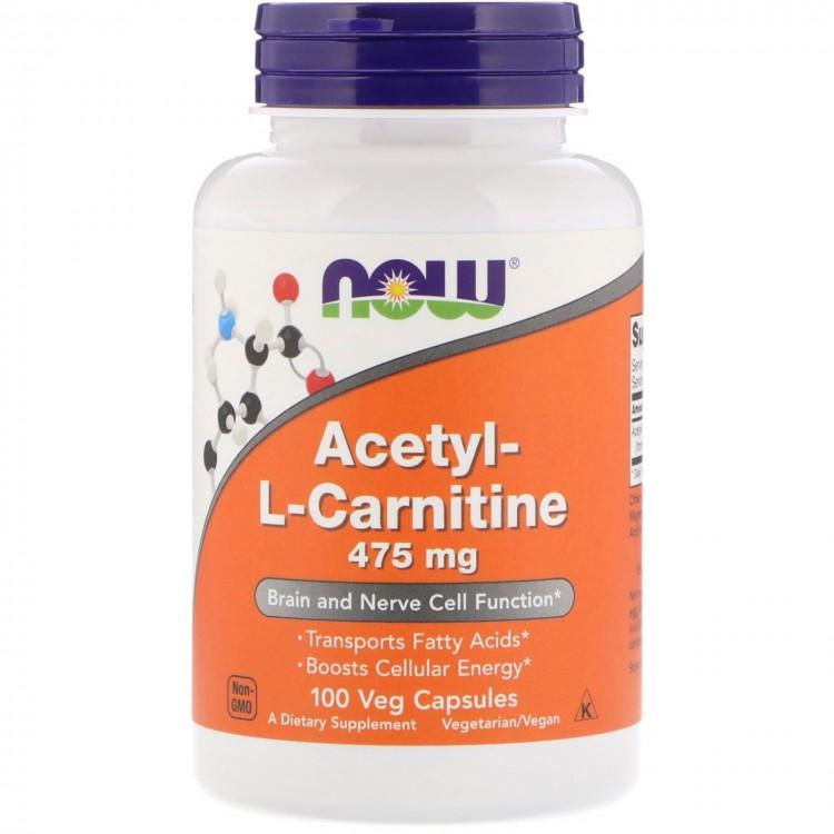 Acetyl-L-Carnitine 475 mg 100 vcaps / Ацетил-L-Карнитин