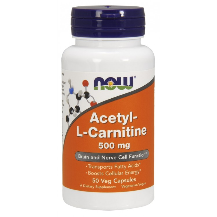 Acetyl-L-Carnitine 500 mg 50 vcaps / Ацетил-L-Карнитин