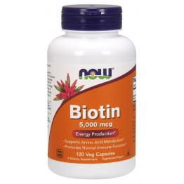 Biotin 5000 mcg 120 vcaps / Биотин