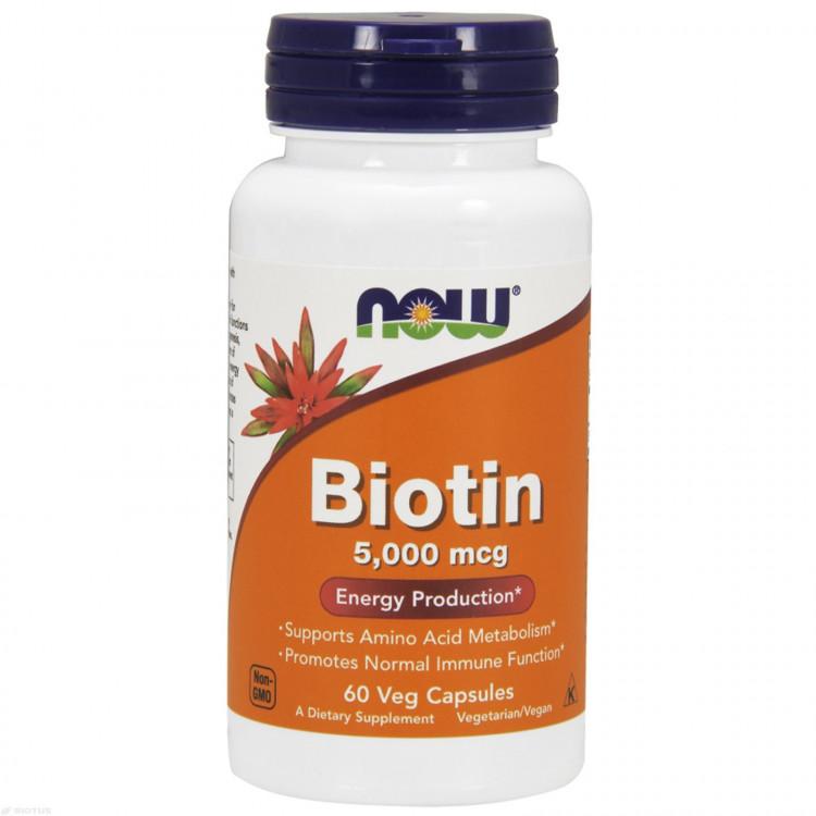 Biotin 5000 mcg 60 vcaps / Биотин