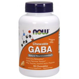 GABA Chewable Natural Orange Flavor 90 tab / ГАМК - Гамма-аминобутириновая кислота
