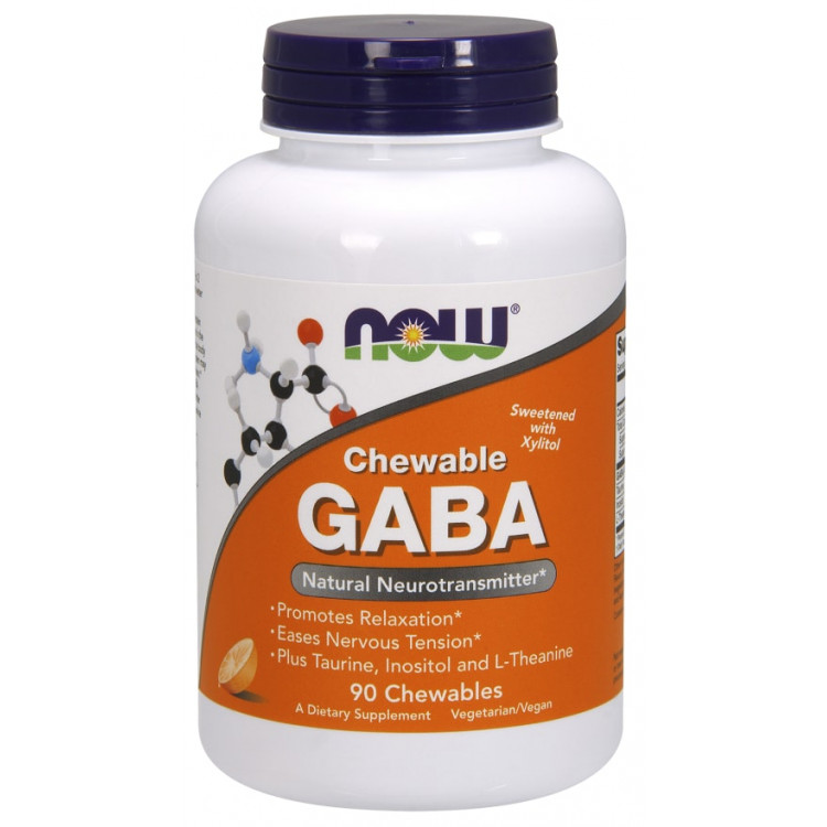 GABA Chewable Natural Orange Flavor 90 tab / ГАМК - Гамма-аминобутириновая кислота
