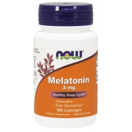 Melatonin 3 mg 180 Lozenges / Мелатонин жевательный
