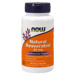 Natural Resveratrol / Натуральный ресвератрол 50 мг 60 капсул