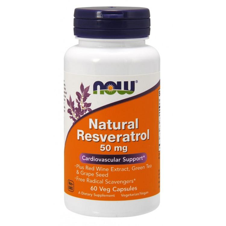 Natural Resveratrol / Натуральный ресвератрол 50 мг 60 капсул