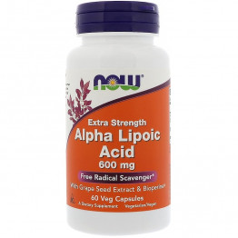 Alpha Lipoic Acid Extra Strength 600 mg 60 caps / Альфа-липоевая кислота