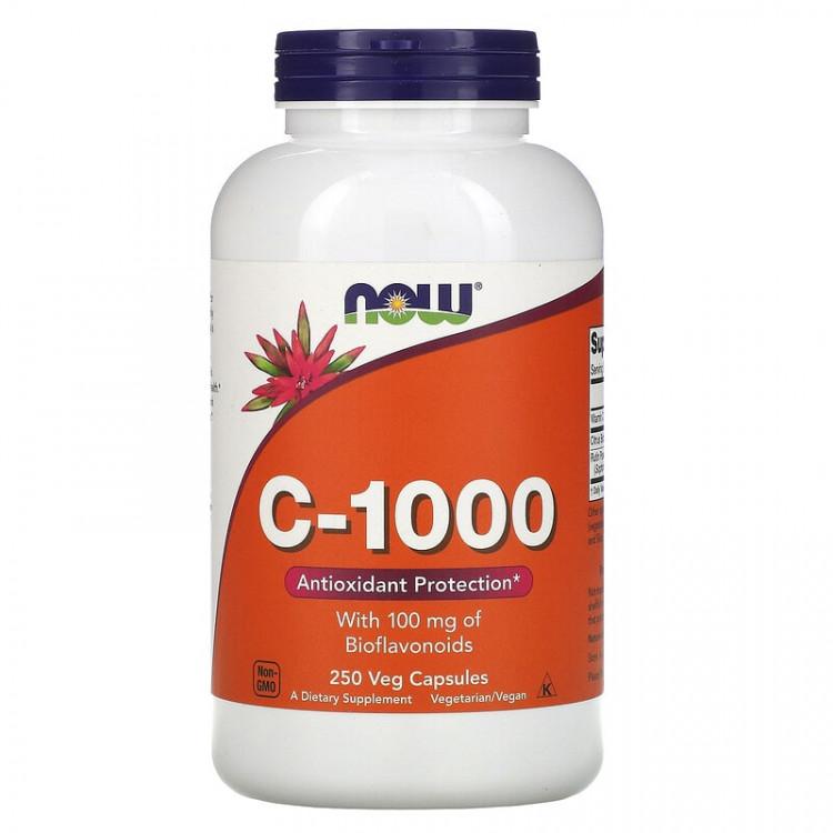 Now Foods C-1000 / Витамин С 250 растительных капсул