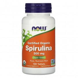 Spirulina Certified Organic 500 mg 100 tab / Натуральная спирулина