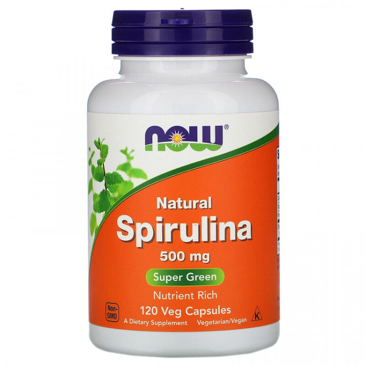 Now Foods Natural Spitulina 500 mg 120 caps / Натуральная спирулина