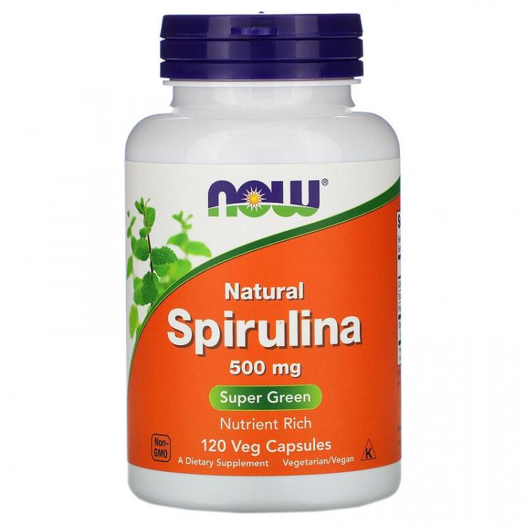 Now Foods Natural Spirulina 500 mg 120 caps / Натуральная спирулина