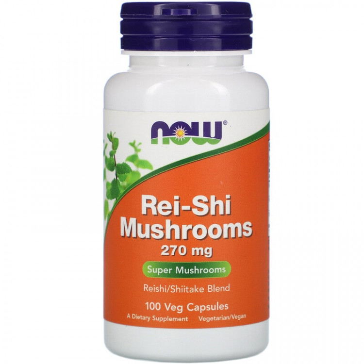 Now Foods Rei-Shi Mushrooms / Грибы рейши 270 мг 100 капсул