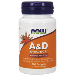 A & D 10.000/400 IU 100 softgels / Витамины А и Д