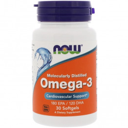 Omega-3 Molecularly Distilled 30 softgels / Омега-3