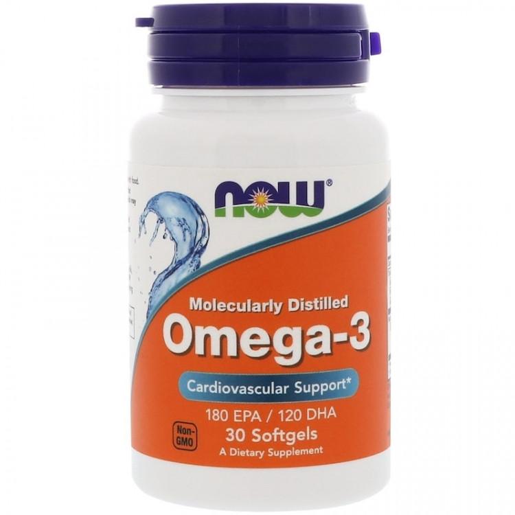 Omega-3 Molecularly Distilled 30 softgels / Омега-3