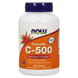 Vitamin C-500 Chewable Cherry-Berry Flavor 100 tab / Витамин С