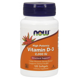 Vitamin D-3 2000 IU 120 softgels / Витамин Д-3