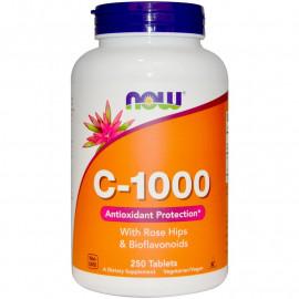 Vitamin C-1000 с шиповником и биофлавоноидами 250 таблеток / Витамин С